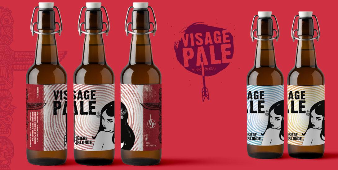 Etiquette Bière Visage Pâle